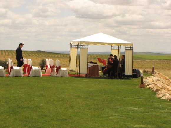 boda en el Complejo de Turismo Rural de Tiedra