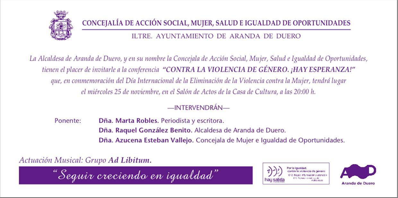 Concierto día contra violencia de género
